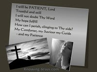 God, My Patience  (Study In God - All I Need-17)